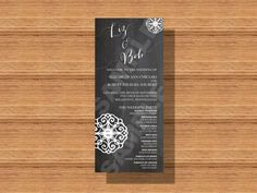 #Chalkboard #Wedding #Program, #Rustic Wedding Program, Printable Wedding Program by WeddingsByJamie on Etsy
