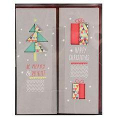 Box of 12 slim tree Christmas cards