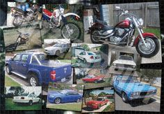 Couple of car photos made as photo collage, then printed as 1000 piece jigsaw puzzle!
