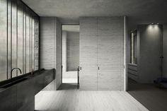 Private Apartment, Antwerp Marc Merckx Image © Pieter Maes #bathroom #arc#archidaily #archilovers #concrete #design #interior #interiors #instabathroom #instainterior #instarchitecture #MarcMerckx #simplicity