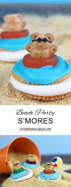 Beach Party Microwave S'mores make great Summer Party Treats