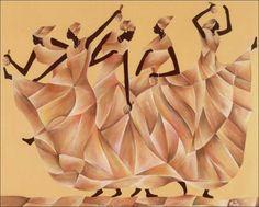 """Black African Women Dancing""   by Ben Agbee.  African Women in Art."