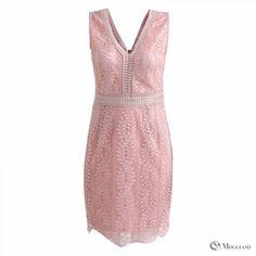 e6e1a81da3aa Ladies Peach A-line V-neck dress for wholesale - dresses - Women s  Wholesale Clothing Supplier