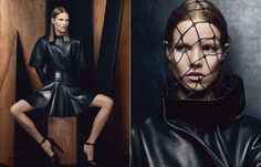 Vogue UK editorial featuringSuvi Koponen for their September 2012 issue displays this Fall's season biggest trend, leather. Photographer Craig McDean