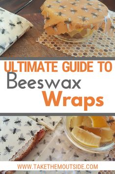 Start using beeswax wraps instead of plastic wrap and make your kitchen more eco-friendly! Find out where to buy bees wrap, how to make it, and how to use beeswax wraps in your home. Bees Wax Wraps, Bees Wrap, Bees Wax Wrap Diy, Homemade Gifts, Diy Gifts, No Plastic, Plastic Wrap, Beeswax Recipes, Diy Beeswax Wrap