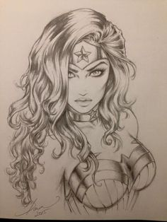 Wonder Woman (pencil sketch)