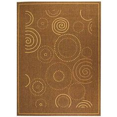 Add simple style to your interior or exterior décor with this brown indoor and outdoor rug. Made of 100 percent polypropylene, this durable rug is resistant to mildew, mold, water, and sun damage and is therefore ideal for outdoors.