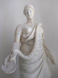 The Hope Hygieia, goddess of health, feeding milk to a serpent 130-161 CE Roman copy of a 360 BCE Greek original unearthed in Ostia