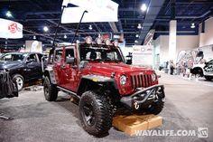 2013 SEMA Rugged Ridge Cherry Red Jeep JK Wrangler 4-Door