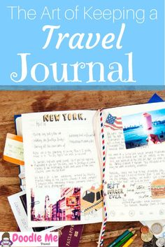 Why Doodle? The Art of Keeping a Custom Travel Journal. How to keep a custom travel journal full of your adventures and doodles abroad.