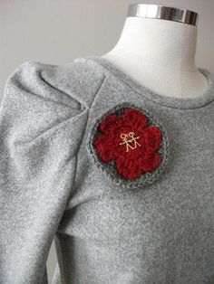 Valentines Happy Couple Pure Wool Red and Grey by crochetlab, $14.00