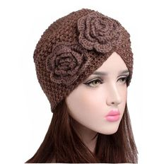 Women Winter Cotton Multi-purpose Flower Printing Beanie Cap ... 0caf4b97e