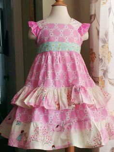 Items similar to Big Girls Easter Dress Orchid Pink and Aqua on Etsy Little Girls Easter Dresses, Little Girl Outfits, Girls Dresses, Summer Dresses, Sewing Ideas, Sewing Projects, Dress Tutorials, Little People, Dress Ideas