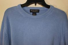 BROOKS BROTHERS PIMA COTTON BLUE SWEATER LONG SLEEVE SIZE LARGE #BrooksBrothers #Sweater