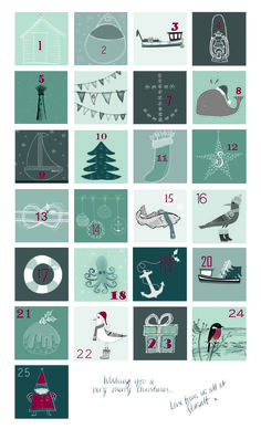 Are you on the countdown to Christmas? Here's a Seasalt advent calendar just for you.