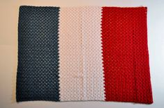 French Flag Baby Blanket by LWalshDesigns on Etsy Blue Fabric, Red And White, Flag, French, Quilts, Blanket, Crochet, Baby, French People