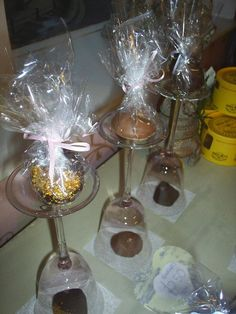 Pretty chocolate displays.