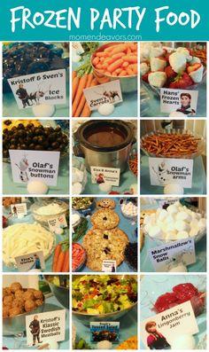 Disney Frozen Party Food Menu