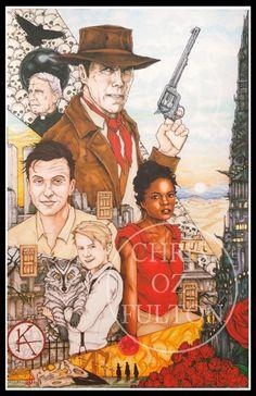 Dark Tower Gunslinger Stephen King Art on Mercari Dark Tower Art, The Dark Tower Series, Stephen King Movies, Stephen Kings, Roland Deschain, King Art, Nerd Love, Original Art For Sale, Rock