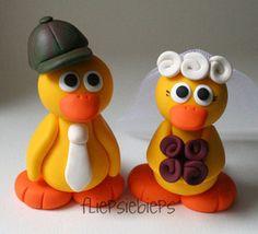 My mom and dad Duck Toy, Duck Duck, Duck Cake, Fondant Animals, Clay Birds, Quack Quack, Holly Hobbie, New Baby Boys, Sugar Art