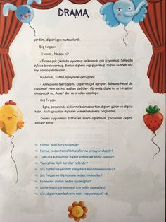 This Pin was discovered by Sev Drama Activities, Kindergarten Activities, Science Activities, Activities For Kids, Turkish Lessons, Science Writing, Learn Turkish, Theater, Free Printable Worksheets