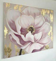 Acrylic Painting Flowers, Acrylic Art, Flower Paintings On Canvas, Diy Canvas Art, Flower Art, Watercolor Paintings, Art Drawings, Wall, Youtube