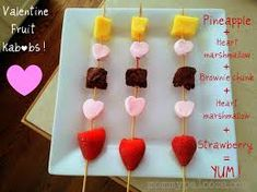 Image result for heart-shaped fruit kabobs