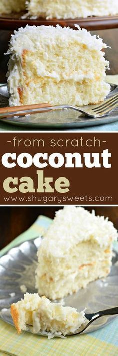 The most delicious, from scratch, white coccake recipe is used to create this perfect Coconut Cake!