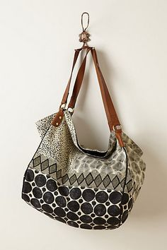 Beaded Geo Collage Bag #anthropologie Thinking.......fall already!