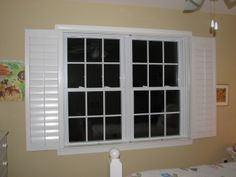 This is a bifold plantation shutter with louvers. It is folded back to get out of the way of the windows. This was a great solution for a little girls room that had a shabby chic/cottage look to it. No strings as blinds have! Room, Cottage, Southern Accents, Shabby Chic Cottage, Windows, Little Girl Rooms, Blinds, Window Treatments, Shutters