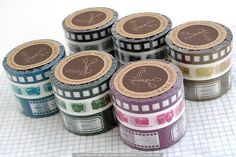 A cute set of 3 camera themed Japanese Washi Masking Tape. Film strip, Cameras, Labels - great for scrapbooking, collage, art journaling, card making! $8.50