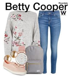 Inspired by Lili Reinhart as Betty Cooper on Riverdale. Girly Outfits, Cool Outfits, Casual Outfits, Fashion Outfits, Womens Fashion, Amazing Outfits, Betty Cooper Style, Betty Cooper Outfits, Betty Cooper Riverdale