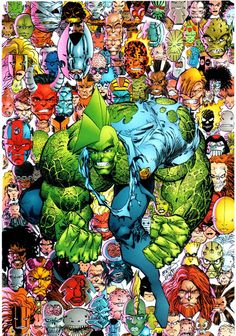 Savage Dragon by Erik Larsen Comic Movies, Comic Books Art, Comic Art, Hulk, Galaxy Comics, Image Hero, Savage Dragon, Fantasy Posters, Alternative Comics