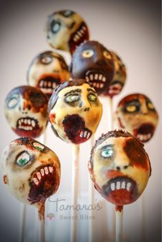 Zombie cake pops, the walking dead party | Flickr - Photo Sharing!