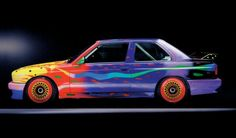 BMW Art Car: 1989 BMW Group A Race Version What do BMW Art Cars 7 and 8 have in common? Both were created using the same model – a BMW racing car – and both were adorned with the … Bmw Australia, Transformers, Car Part Art, Art Deco Car, Car Museum, Truck Art, Car Illustration, Car Posters, Kendo