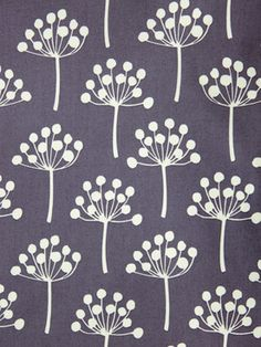 Lotta Jansdotter  Florine Dusted Plum Fabric - planning to sew curtains