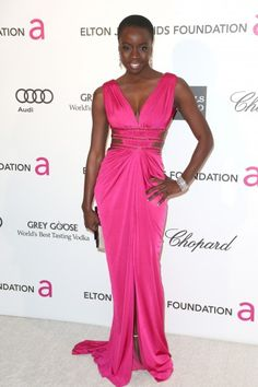 Her name is Danai Gurira and she nailed it the Oscars 2013!!