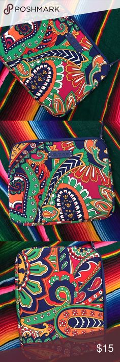 Vera Bradley NWOT Tablet case Vera Bradley bright beautiful colors tablet case padded and big enough to fit a mini iPad Vera Bradley Bags Cosmetic Bags & Cases