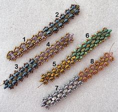 I saw a bracelet for sale in an Etsy shop called Sterling Sky a while back and it wasn't too difficult to figure out the basic stitch. The s...