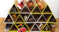 Sapateira Feita de Caixa de Papelão Passo a Passo | Reciclagem no Meio Ambiente