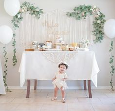 Baby Girl First Birthday Photo birthday girl party ideas. More in my web site Baby Girl First Birthday Photo Shoot Baby Mila & Boho Birthday Party. Baby Girl 1st Birthday, First Birthday Photos, First Birthday Parties, Birthday Party Themes, Birthday Ideas, Simple First Birthday, 1st Birthday Girl Decorations, Cake Table Birthday, Gold Birthday