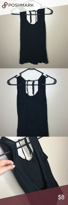 Backless training tank top Black, backless tank top that ties at the top. Public Myth Tops Tank Tops