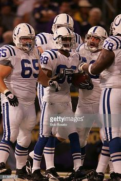 6624bdf524c Football Indianapolis Colts Marvin Harrison victorious with teammates  during game vs Baltimore Ravens Baltimore MD 9