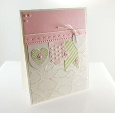 What a lovely card!  How cute and gorgeous this would be for a new baby!