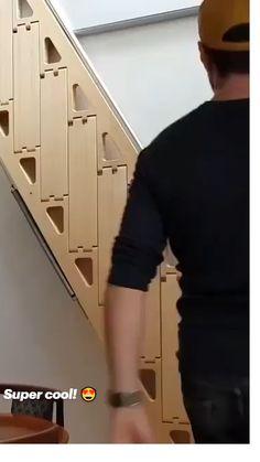 Home Room Design, Tiny House Design, Home Interior Design, Tiny House Cabin, Tiny House Living, Diy Home Repair, House Stairs, Staircase Design, House Rooms