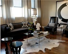 Catchy Living Room Designs Ideas With Bold Black Furniture