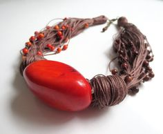 Orange Free Form Tagua Nut Small Round Orange And by ArteTeer, $50.00