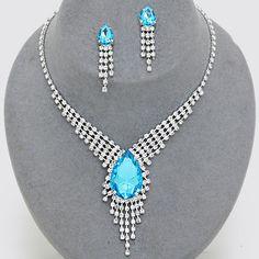 Calista Rhinestone Necklace Set