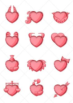 Zodiac Icons Set — Vector EPS #red #pink • Available here → https://graphicriver.net/item/zodiac-icons-set/3915586?ref=pxcr