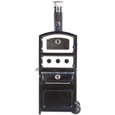 FRNT Alto Wood Fired Oven and Smoker with Warming Drawer and Storage Box Color: Ecru